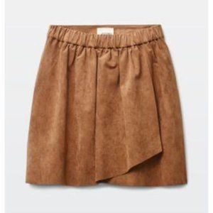 Wilfred Free | Vegan Camel Nescher Mini Skirt